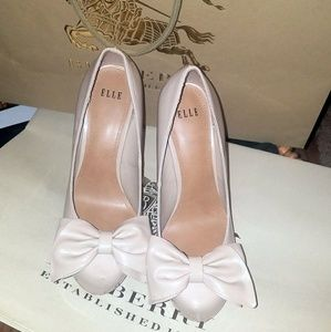 ELLE Nude Bow High Heels